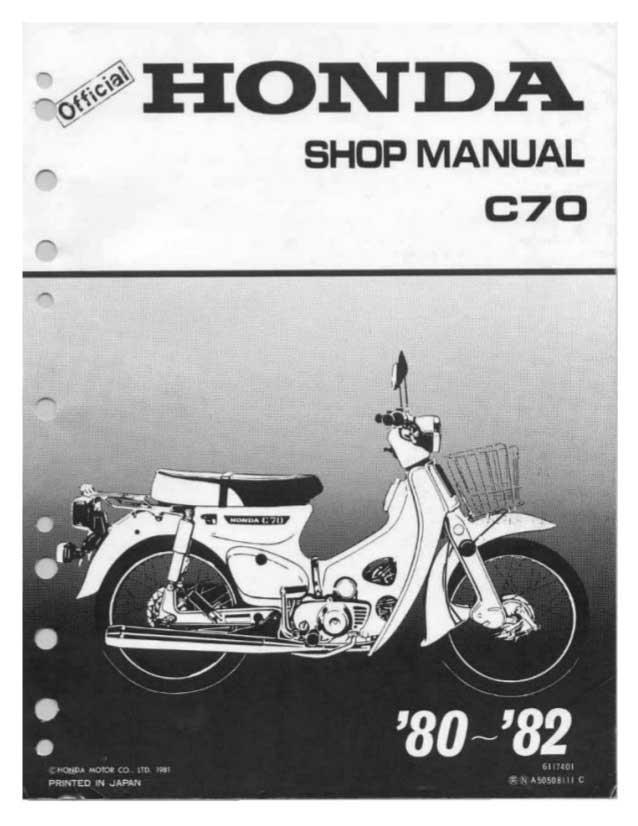 Honda c70 manual de taller manuales